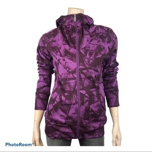 BENCH Purple/Brown Patterned Zippered Sweatshirt